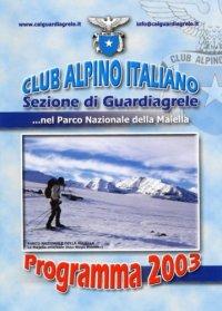 Programma 2003 CAI Guardiagrele